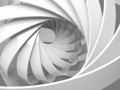 Sticker Zusammenfassung digitalen Hintergrund mit 3d Spirale Struktur