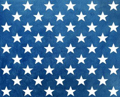 Sticker Zusammenfassung dunkelblau Aquarell Muster mit weißen Sternen.