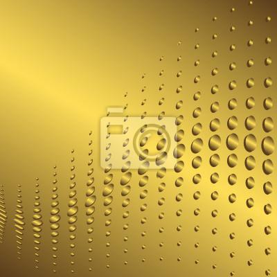 Zusammenfassung goldenen Rahmen mit einem Platz für den Text (Vektor)