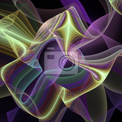 Sticker Zusammenfassung Hintergrund in lila und gelb