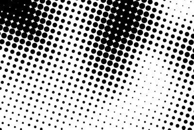 Sticker Zusammenfassung Hintergrund mit schwarzen Punkten.