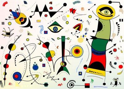 Zusammenfassung Hintergrund Stil Miro Französisch Maler Notebook