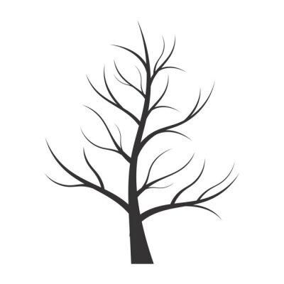 Sticker Zusammenfassung Illustration - Baum Silhouette