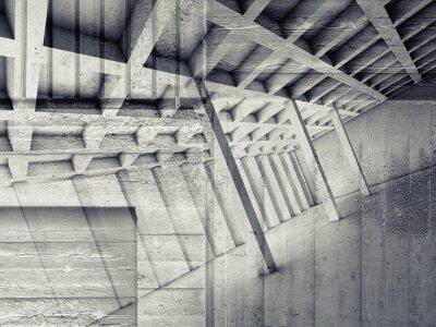 Sticker Zusammenfassung Innenraum mit leeren Raum und Beton