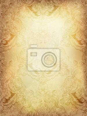 Zusammenfassung Jahrgang Hintergrund mit klassischen nahtlose Muster