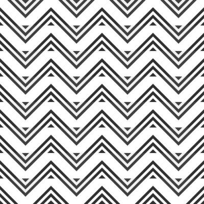 Sticker Zusammenfassung nahtlose Muster von grauem Zickzack auf weißem Hintergrund