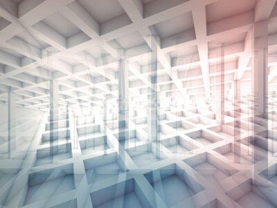 Sticker Zusammenfassung schneidet Zellstrukturen, 3D-Darstellung
