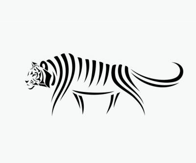 Sticker Zusammenfassung Tiger Illustration