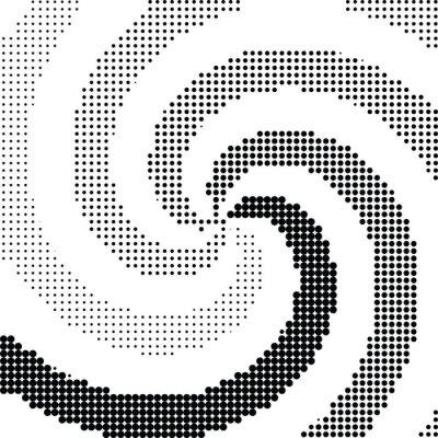 Sticker Zusammenfassung Wirbel Halbton Punkt Vektor