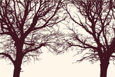 Sticker Zwei Bäume