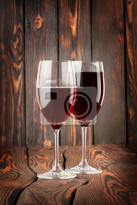 Zwei Glas Rotwein
