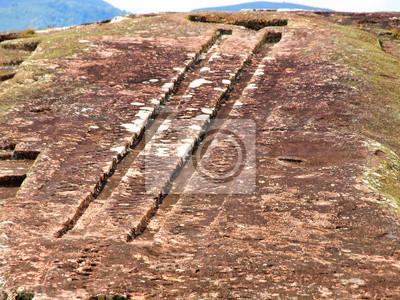 Sticker Zwei Kanäle auf Festung Samaipata