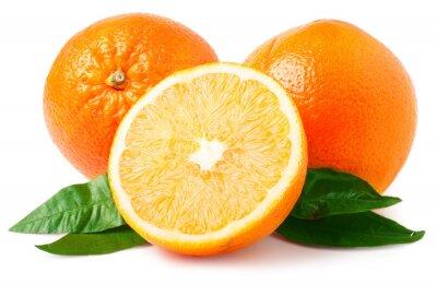 Sticker Zwei Orangen isoliert auf weiß